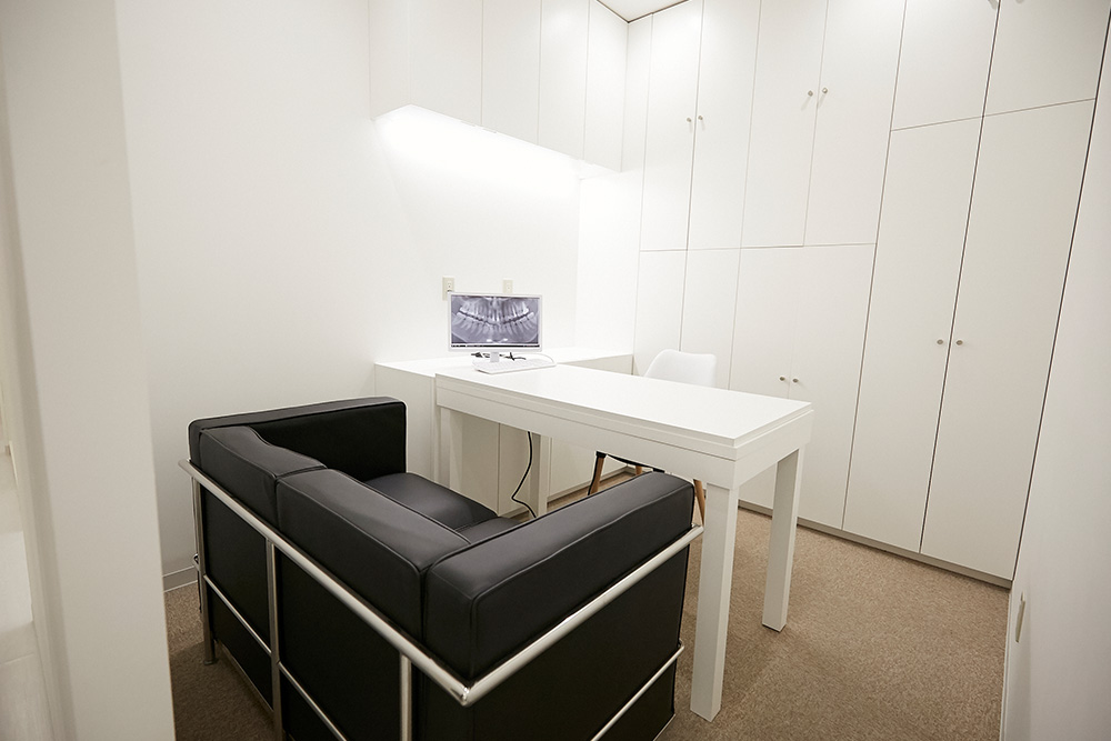 カウンセリング専用の個室
